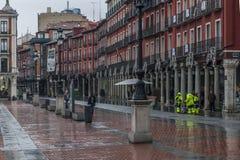 Λεπτομέρεια του δημάρχου Plaza του Βαγιαδολίδ Στοκ φωτογραφία με δικαίωμα ελεύθερης χρήσης