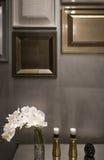 Λεπτομέρεια του εσωτερικού, σχέδιο τοίχων πλαισίων εικόνων Στοκ Εικόνες