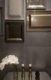 Λεπτομέρεια του εσωτερικού, σχέδιο τοίχων πλαισίων εικόνων Στοκ Εικόνα