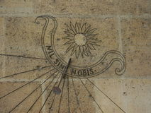 Λεπτομέρεια του ηλιακού ρολογιού στοκ εικόνες με δικαίωμα ελεύθερης χρήσης