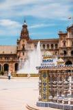 Λεπτομέρεια του διάσημου ορόσημου - Plaza de Espana στη Σεβίλη, Andalusi Στοκ εικόνες με δικαίωμα ελεύθερης χρήσης
