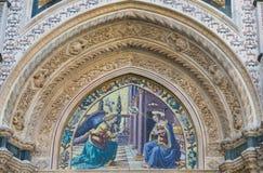 Λεπτομέρεια του καθεδρικού ναού Σάντα Μαρία del Fiore Στοκ Εικόνες