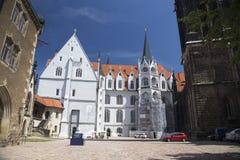 Λεπτομέρεια του καθεδρικού ναού του κάστρου Meissen Στοκ Εικόνες