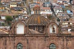 Λεπτομέρεια του καθεδρικού ναού Cusco σε Cusco, Περού Στοκ Εικόνα