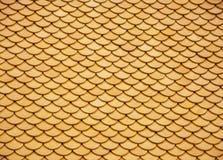 Λεπτομέρεια του κεραμιδιού στεγών σε Wat po Στοκ Εικόνες
