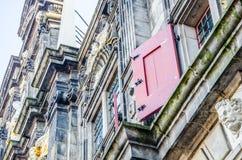 Λεπτομέρεια του κτηρίου αιθουσών πόλεων του Ντελφτ στοκ φωτογραφίες με δικαίωμα ελεύθερης χρήσης