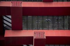 Λεπτομέρεια του κτηρίου, Μουσείο Τέχνης της Κίνας, Σαγκάη Στοκ Εικόνες