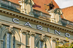 Λεπτομέρεια του κτηρίου χαρτοπαικτικών λεσχών στη Βέρνη Ελβετός Στοκ Εικόνες