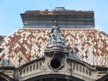 Λεπτομέρεια του κτηρίου Geozavod σε Βελιγράδι, Σερβία στοκ εικόνες