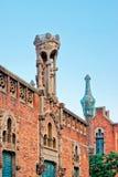 Λεπτομέρεια του κτηρίου Hospital de Sant Πάου στη Βαρκελώνη Στοκ Φωτογραφία