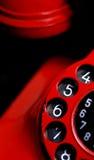 Κόκκινη αναδρομική τηλεφωνική λεπτομέρεια Στοκ φωτογραφίες με δικαίωμα ελεύθερης χρήσης