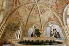Λεπτομέρεια του μοναστηριού της Σάντα Μαρία de Poblet Monastery στοκ εικόνες