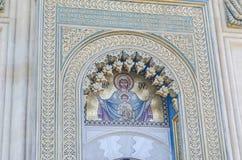 Λεπτομέρεια του μοναστηριού Curtea de Arges, Ορθόδοξη Εκκλησία, υπαίθριο προαύλιο Στοκ φωτογραφία με δικαίωμα ελεύθερης χρήσης
