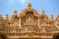 Λεπτομέρεια του ναού Jain σε Jaisalmer Στοκ φωτογραφίες με δικαίωμα ελεύθερης χρήσης