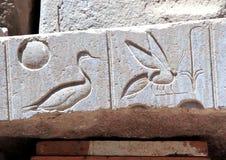Λεπτομέρεια του ναού Karnak σύνθετου Στοκ φωτογραφία με δικαίωμα ελεύθερης χρήσης
