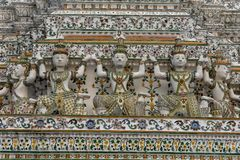 Λεπτομέρεια του ναού Wat Pho στη Μπανγκόκ, Ταϊλάνδη Στοκ Φωτογραφίες
