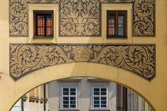 Λεπτομέρεια του παλαιού κτηρίου στην Πράγα Στοκ Φωτογραφίες