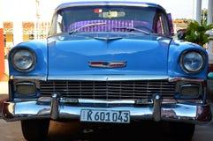 Λεπτομέρεια του παραδοσιακού αμερικανικού αυτοκινήτου στην Κούβα Στοκ Εικόνες