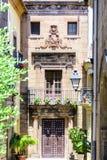 Λεπτομέρεια του παραδοσιακού σπιτιού στη Βαρκελώνη Στοκ Φωτογραφίες