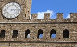 Λεπτομέρεια του παλαιού παλατιού αποκαλούμενη Palazzo Vecchio στη Φλωρεντία Στοκ φωτογραφίες με δικαίωμα ελεύθερης χρήσης
