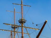 Λεπτομέρεια του παλαιού πλέοντας σκάφους Στοκ εικόνα με δικαίωμα ελεύθερης χρήσης