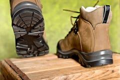 Λεπτομέρεια του περπατήματος των μποτών Στοκ εικόνα με δικαίωμα ελεύθερης χρήσης