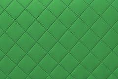 Λεπτομέρεια του πράσινου ραμμένου δέρματος, πράσινο σχέδιο υποβάθρου ταπετσαριών δέρματος στοκ φωτογραφίες με δικαίωμα ελεύθερης χρήσης