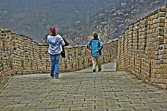 Λεπτομέρεια του Σινικού Τείχους της Κίνας σε HDR στοκ εικόνες με δικαίωμα ελεύθερης χρήσης