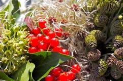 Λεπτομέρεια του στεφανιού φθινοπώρου Στοκ Εικόνες
