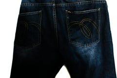 Λεπτομέρεια του συμπαθητικού τζιν παντελόνι με τη ζώνη δέρματος στο εκλεκτής ποιότητας ύφος Στοκ Εικόνες