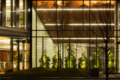 Λεπτομέρεια του σύγχρονου κτιρίου γραφείων Στοκ Φωτογραφία