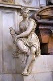Λεπτομέρεια του τάφου Michelangelo στη βασιλική Santa Croce, Φλωρεντία Στοκ εικόνα με δικαίωμα ελεύθερης χρήσης