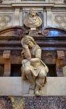 Λεπτομέρεια του τάφου Michelangelo στη βασιλική Santa Croce, Φλωρεντία Στοκ Φωτογραφία