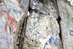 Λεπτομέρεια του τείχους του Βερολίνου στη Γερμανία Στοκ Φωτογραφία