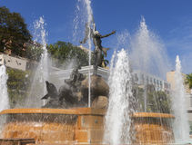 Λεπτομέρεια του υγρού αγάλματος Raices Στοκ εικόνες με δικαίωμα ελεύθερης χρήσης