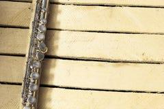 Λεπτομέρεια του φλαούτου Στοκ Εικόνες
