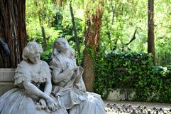 Λεπτομέρεια του όμορφου μνημείου που αφιερώνεται στον ποιητή Gustavo Adolfo Becquer στοκ εικόνες