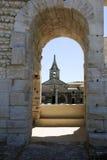 Λεπτομέρεια του amphithater σε Arles στη Γαλλία Στοκ Εικόνα