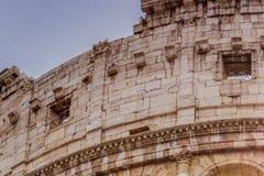 Λεπτομέρεια του Colosseum στη Ρώμη Στοκ φωτογραφία με δικαίωμα ελεύθερης χρήσης