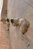 Λεπτομέρεια του dei Martiri Angeli ε degli της Σάντα Μαρία βασιλικών πυλών Στοκ Φωτογραφία