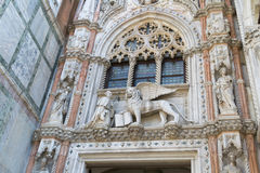 Λεπτομέρεια του della Carta Porta Doge ` s του παλατιού, Βενετία Στοκ εικόνες με δικαίωμα ελεύθερης χρήσης