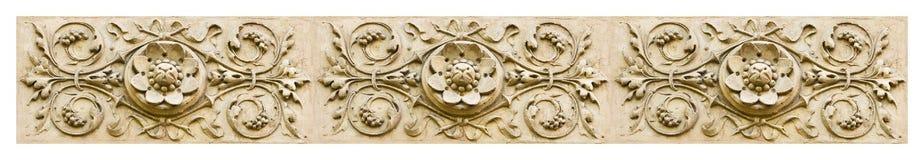 Λεπτομέρεια του floral ντεκόρ μιας ιταλικής πρόσοψης - εικόνα έννοιας εμβλημάτων στοκ εικόνες