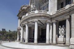 Λεπτομέρεια του frontside Palacio de Bellas Artes, Avenida Juà ¡ rez, rico Centro Histà ³, Πόλη του Μεξικού Στοκ φωτογραφίες με δικαίωμα ελεύθερης χρήσης