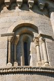 Λεπτομέρεια του romanesque μοναστηριού του Σάο Pedro de Ferreira Στοκ Φωτογραφία
