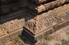 Λεπτομέρεια των γλυπτικών πετρών σε Angkor Wat Στοκ εικόνες με δικαίωμα ελεύθερης χρήσης