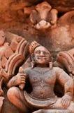 Λεπτομέρεια των γλυπτικών πετρών σε Banteay Srei Στοκ εικόνα με δικαίωμα ελεύθερης χρήσης