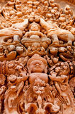Λεπτομέρεια των γλυπτικών πετρών σε Banteay Srei Στοκ Εικόνες