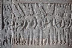 Λεπτομέρεια των γλυπτικών πετρών (Apsaras) στο angkor wat Στοκ φωτογραφία με δικαίωμα ελεύθερης χρήσης