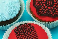 Λεπτομέρεια των εύγευστων χειροποίητων cupcakes Στοκ εικόνες με δικαίωμα ελεύθερης χρήσης