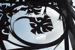 Λεπτομέρεια των διακοσμήσεων σιδήρου λαμπτήρων οδών στη Βαρκελώνη, που μιμείται org Στοκ Εικόνες